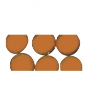Mozaiek stenen oranje rond
