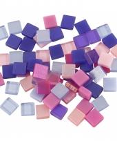 Mozaiek stenen paars roze 5x5 mm
