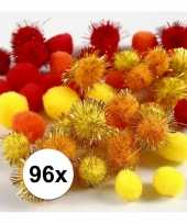 Multi kleur decoratieve pompons 15 20 mm 10107817