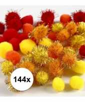 Multi kleur decoratieve pompons 15 20 mm 10107818