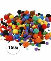 Multi kleur decoratieve pompons 15 40 mm 150