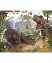 Muur decoratie dinosaur battle van david penfound