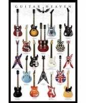 Muur decoratie guitar heaven poster