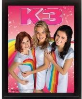 Muurdecoratie k3 3d lijst poster
