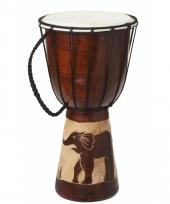 Muziekinstrument houten drum 40 cm 10081038