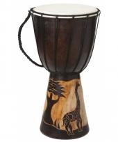 Muziekinstrument houten drum 40 cm