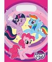 My little pony thema feestzakjes 8 stuks