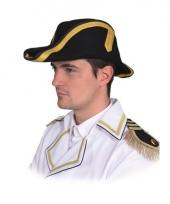 Napoleonhoed zwart voor volwassenen