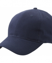 Navy baseball cap van katoen