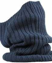Navy blauwe winter nekwarmer voor volwassenen
