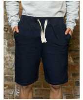 Navy campus korte broek voor heren