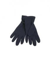 Navy fleece handschoenen voor dames en heren