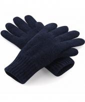 Navy heren handschoenen