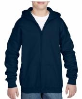 Navy sweatshirt met rits voor jongens