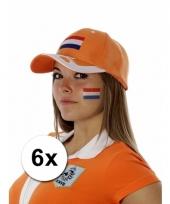 Nederlandse supporters tattoo 6 stuks