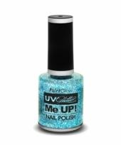 Neon blauwe glitter nagellak blacklight