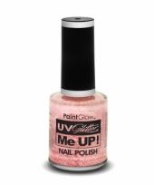 Neon champagne roze glitter nagellak blacklight