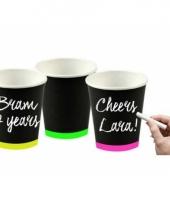 Neon drinkbekertjes 6 stuks 10080869