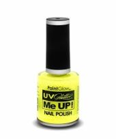 Neon gele glitter nagellak blacklight