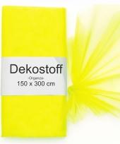 Neon gele organza stoffen 150 x 300 cm
