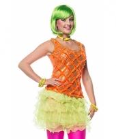 Neon groen ruches rokje voor dames