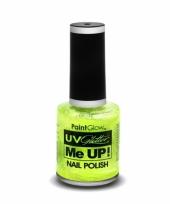 Neon groene glitter nagellak blacklight