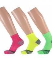 Neon hardloopsokken voor volwassenen maat 35 38