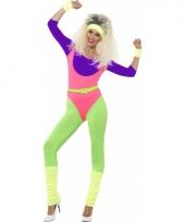 Neon jumpsuit jaren 80