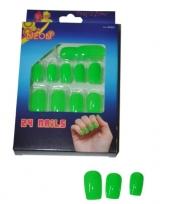 Neon kunstnagels groen