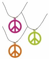 Neon peace ketting