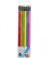 Neon potloden 12 stuks