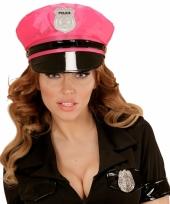 Neonroze politie pet voor volwassenen