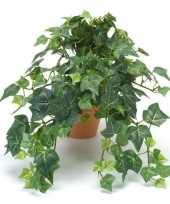 Nep klimop plant groen in terracotta pot kunstplant 10143799