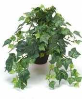 Nep klimop plant groen in zwarte pot kunstplant 10143798