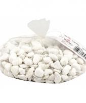 Netje kiezelsteentjes wit 1 kilo
