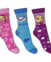 Nickelodeon paw patrol sokken 3 pak skye