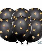 Nieuwjaar ballonnen zwart met gouden sterren