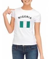 Nigeriaanse vlaggen t-shirt voor dames