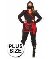Ninja dames kostuum 4 delig grote maat