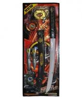 Ninja set met zwaard en nunchaku