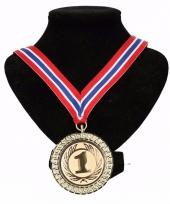 Noorwegen medaille nr 1 halslint rood wit blauw