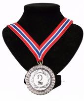 Noorwegen medaille nr 2 halslint rood wit blauw