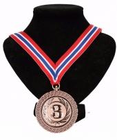 Noorwegen medaille nr 3 halslint rood wit blauw