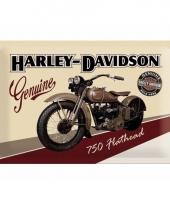 Nostalgische harley davidson wanddecoratie 20 x 30 cm