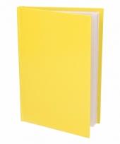 Notitieschrift harde kaft geel