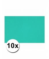 Oceaan blauw knutsel karton a4 10 stuks