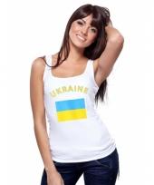 Oekraiense vlag tanktop singlet voor dames