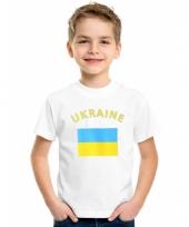 Oekraiense vlaggen t-shirts voor kinderen