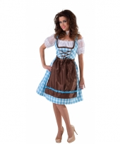 Oktoberfest jurkje blauw met bruin schort