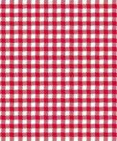 Oktoberfest lunchservetten met een ruit print rood wit 3 laags 20 stuks